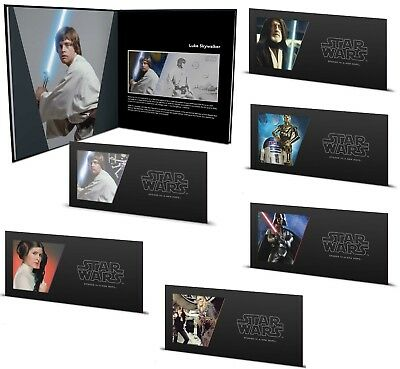 Star Wars A New Hope - Complete Collection $1 Silver Coin Note - Niue 2018