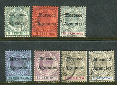 MOROCCO AGENCIES-1903-5  A fine used set to 2p Sg 17-23