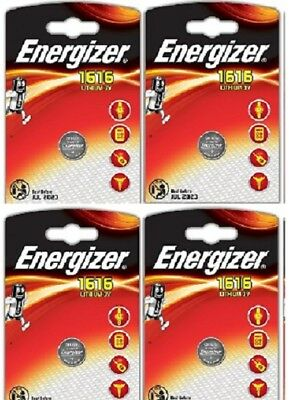 4 x Energizer 1616 CR1616 3V Lithium Coin Cell Battery DL1616 KCR1616 Retail Pac