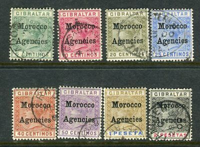 MOROCCO AGENCIES-1899  A fine used set to 2p Sg 9-16