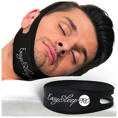 Easy Sleep Pro Unisex Anti Snore Sleeping Solution Chin Strap Black New! $119