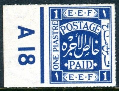 PALESTINE-1918 1p Indigo as issued without gum Sg 1