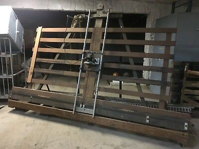 Vintage Black and Decker vertical panel saw on cart