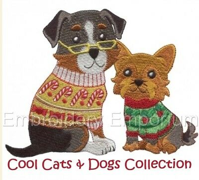 Cool Cats & Dogs Collection - Machine Embroidery Designs On Cd
