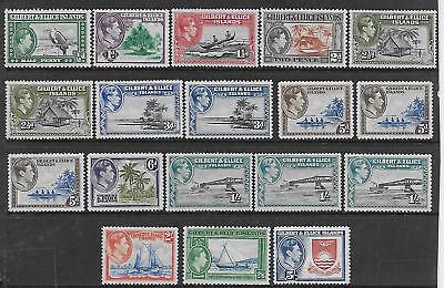Gilbert & Ellice  Sg 43/54  1939/55 Gvi Set  All Other Shades & Perfs  Fine Mint