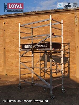 The Trade King 730 Foldable Aluminium Scaffold Tower 2.90m/3.65m working height