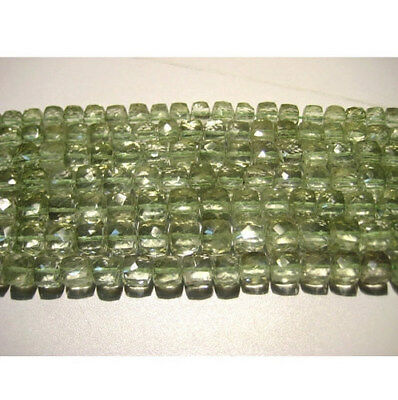 """8"""" Strand Faceted Amethyst Beads, Green Amethyst Beads, Amethyst Box Beads"""