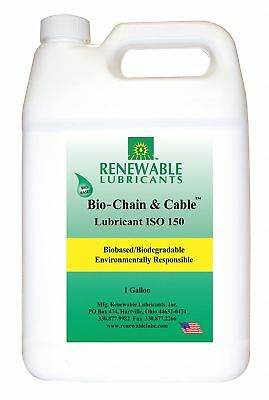 Chain and Cable Lubricant, 1 gal. Can, Vegetable Oil Chemical Base, Yellow Color