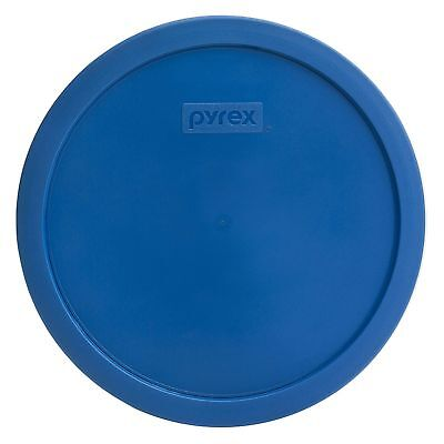 Pyrex 7401-PC 3 Cup Lake Blue Round Plastic Replacement Lid Cover for Glass Bowl