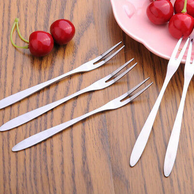Fruit Fork Two Tooth Fork Hotel Stainless Steel Steel Home & Living Fruit