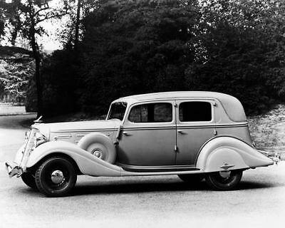 1934 Hudson Eight Brougham Model LL Factory Photo c7929-54SS6K