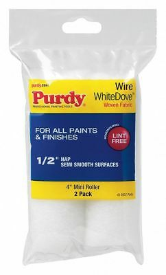 Purdy Paint Roller Cover, 1/2 in. Nap, PK2   140606044