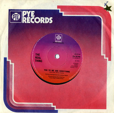 """Real Thing 7"""" vinyl single record You To Me Are Everything - Solid UK 7N25709"""