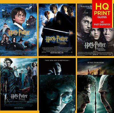 Harry Potter Trilogy Movie Posters | A4 A3 A2 A1 | Wall Decal Poster