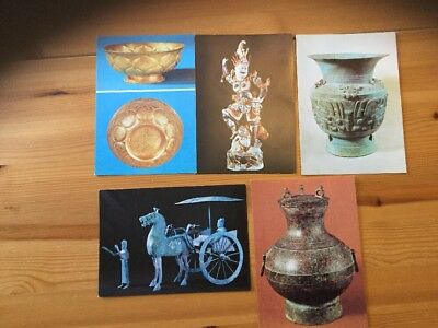 CHINESE EXHIBITION POSTCARDS x 5 1970s? *GOOD CONDITION FOR AGE*