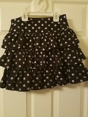 Gymboree. Skirt with shorts. Black with Glitter dots. Girls Size 12. SHIPS FREE