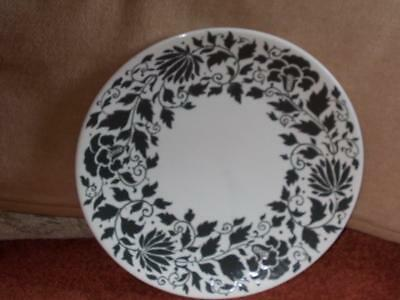 "CHARLOTTE RHEAD BURSLEY WARE LARGE CHARGER BLACK/WHITE PATTERN 14.5"" DIA No 7699"