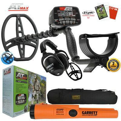 Garrett AT MAX Metal Detector with MS-3, Pro Pointer AT Z-Lynk, Carry Bag & More
