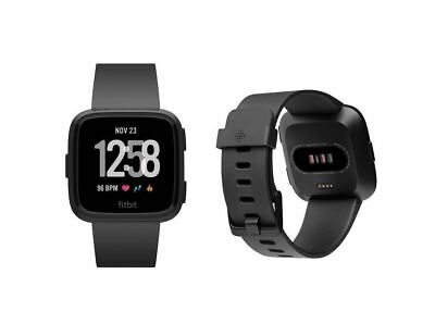 Fitbit Versa Smartwatch - Black Aluminum - One Size (S & L Bands Included)