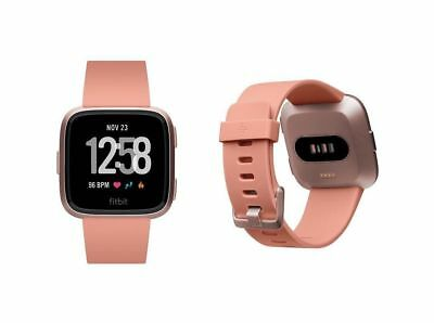 Fitbit Versa Smartwatch - Rose Gold Aluminum - One Size (S & L Bands Included)