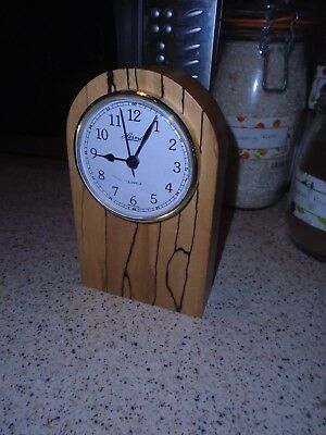 Vintage Hermle Wooden Mantel Clock, Battery Operated