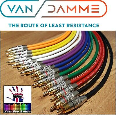 Van Damme - Silver Plated OFC RCA Phono Cable Pair - Multi variation listing