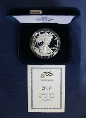 2010 United States 1oz Silver Proof $1 Eagle in Case with COA & Outer    (L5/24)