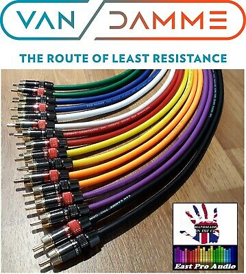 Van Damme - Monster Silver Plated OFC RCA Phono Interconnect Cable Pair