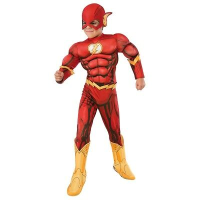 The Flash Costume Kids Superhero Halloween Fancy Dress