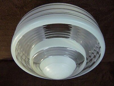 5Vintage Art Deco Atomic Frosted & Clear Glass Globe Ceiling Light Shade