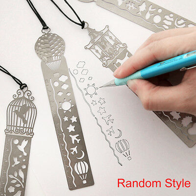 1Pc Fairy Tale Ultra-thin Creative Metal Tale Bookmark Rulers World Random Hot