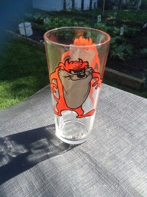 Warner Bros Looney Tunes 1973 Pepsi Collector Series Taz Tasmanian Devil Glass