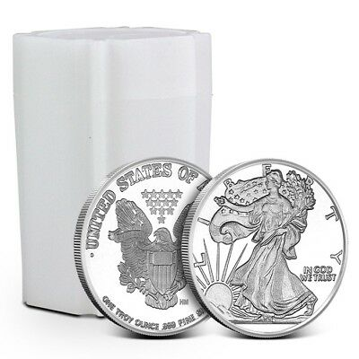 Lot/Tube of 20 - 1 oz Highland Mint (HM) .999 Fine Walking Liberty Silver Rounds