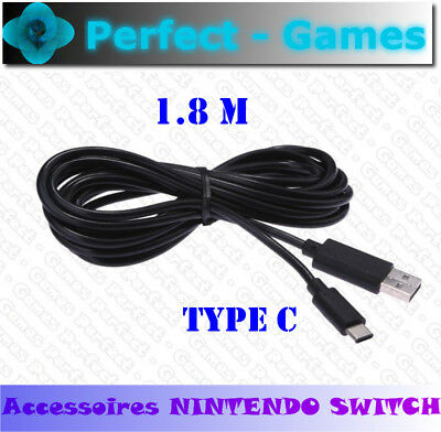 câble de charge 1.8M USB type C Console Nintendo Switch power USB charging cable