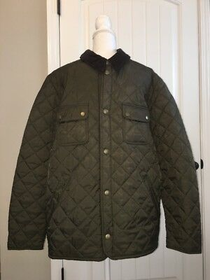 New Barbour for J Crew  Tinford Jacket Olive Sz Xl E0548