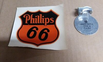 1940s Phillips 66 NOS Decal and Promotional Hanger