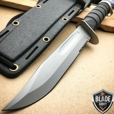 """12"""" Marine Hunting Tactical Military Combat Survival Knife Fixed Blade -T"""