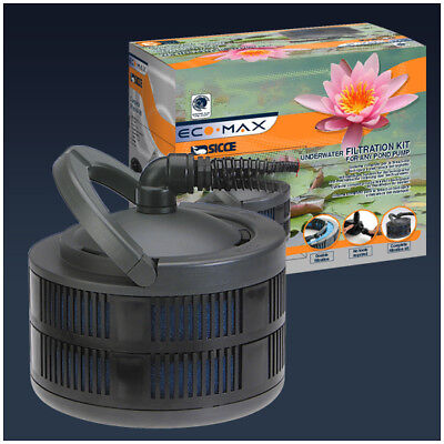 Sicce ECO MAX Biological Underwater Pond filter filtration Kit - for any pump