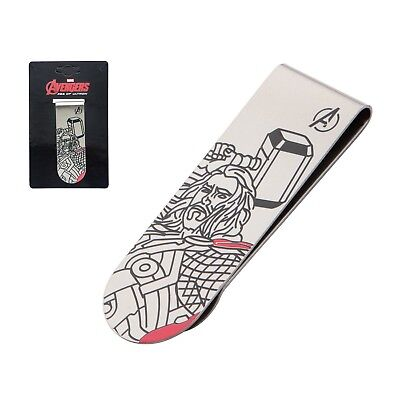 Marvel Thor Stainless Steel Laser Etched Color Money Clip