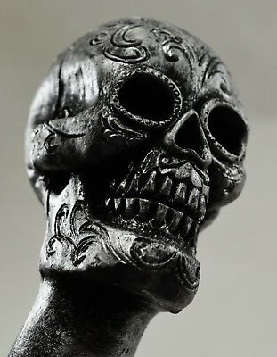Superbly Detailed SUGAR SKULL Walking Stick/Cane with Hidden Compartment Cosplay