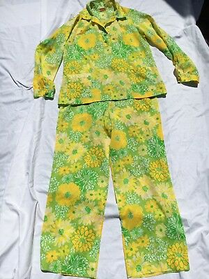 Vintage 60's 70's Lilly Pulitzer Lounge Hostess Pant Suit sz M/L