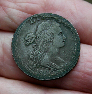 1800 Draped Bust Large Cent XF Details Rare 180 over 179 Interesting Coin