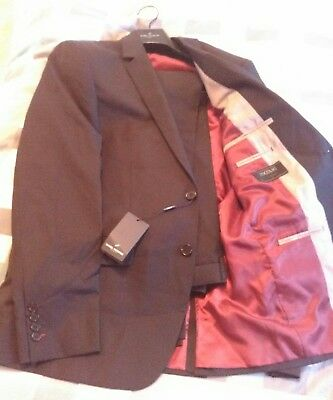Daniel Hechter Textured Black Mens Suit Size 104 Reg