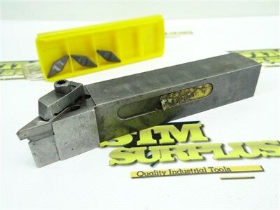 "Kennametal Indexable Precision Tool Holder 1"" Shank Nvlcr-163D + 3 New Inserts"