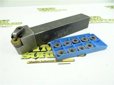 """Precision Indexable Round Indexable Tool Holder 1"""" Shank Mrgnr164 +9 New Inserts"""