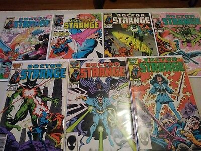 7 copper age Doctor Strange comic books number 73 through 79