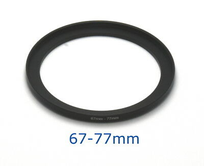 Lens filter adapter ring 67-77mm step-up DSLR Nikon Canon universal professional