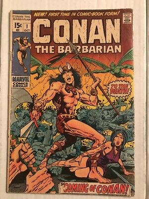 CONAN THE BARBARIAN #1 (Marvel 1970) 1st Comic Appearance Of Conan! VG!