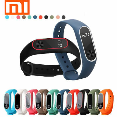 For Xiaomi Mi Band2 Adjustable Bangle Soft Silicone Strap Wristband Bracelet AT