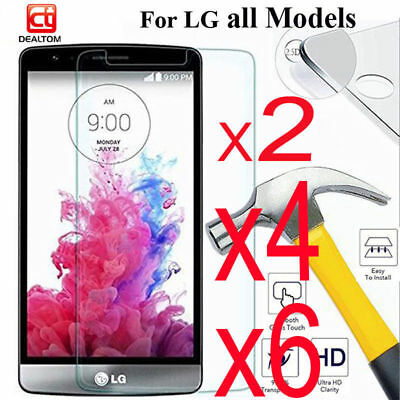 6X Premium Ballistic Tempered Gorilla Glass Screen Protector For Lg G3 G4 G5 G6